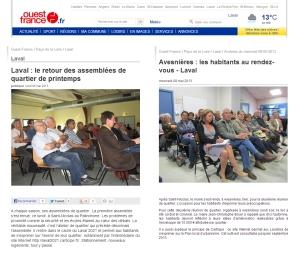 OUEST FRANCE - Laval - 6 et 8 mai 2013