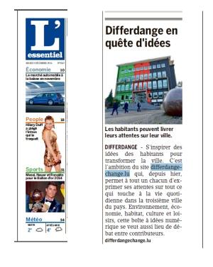 L'ESSENTIEL - Luxembourg 2déc2015