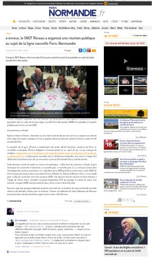 à évreux, la SNCF Réseau a organisé une réunion publique au sujet de la ligne nouvelle Paris-Normandie - paris-normandie.fr
