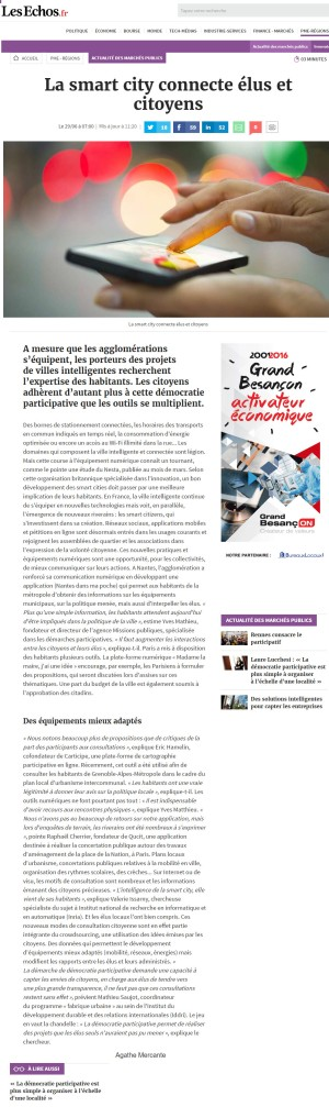 Echos - EH - La smart city connecte élus et citoyens, Actualité des Marchés Publics.jpg
