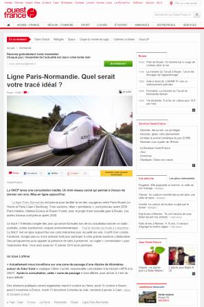 Ligne Paris-Normandie. Quel serait votre tracé idéal ROGNE