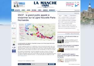 SNCF le grand public appelé à s'exprimer sur la Ligne Nouvelle Paris-Normandie La Manche Libre ROGNE